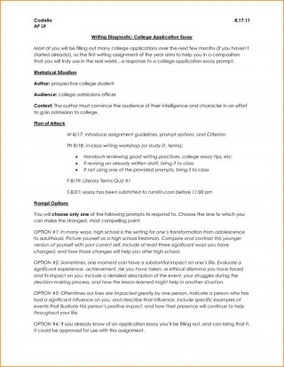 006 Surprising College Application Essay Outline Example Idea  Admission Format Heading Narrative Template320