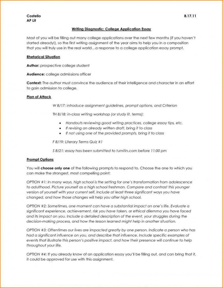 006 Surprising College Application Essay Outline Example Idea  Admission Format Heading Narrative Template728