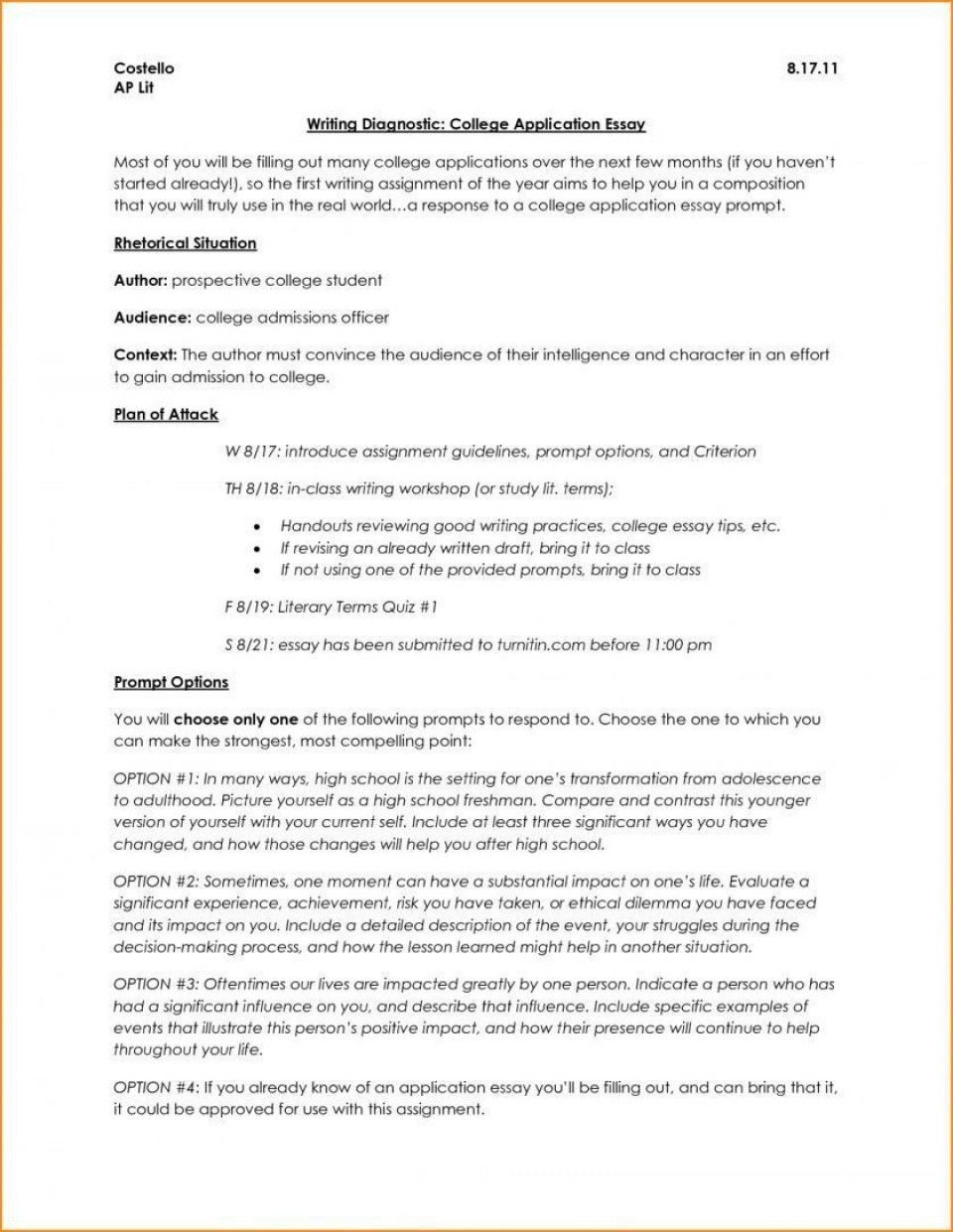 006 Surprising College Application Essay Outline Example Idea  Admission Format Heading Narrative Template960
