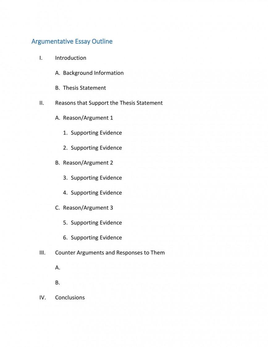 006 Surprising College Argumentative Essay Outline Template Design  High School