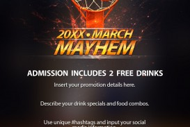 006 Surprising Free Basketball Flyer Template Design  Game 3 On Tournament Word