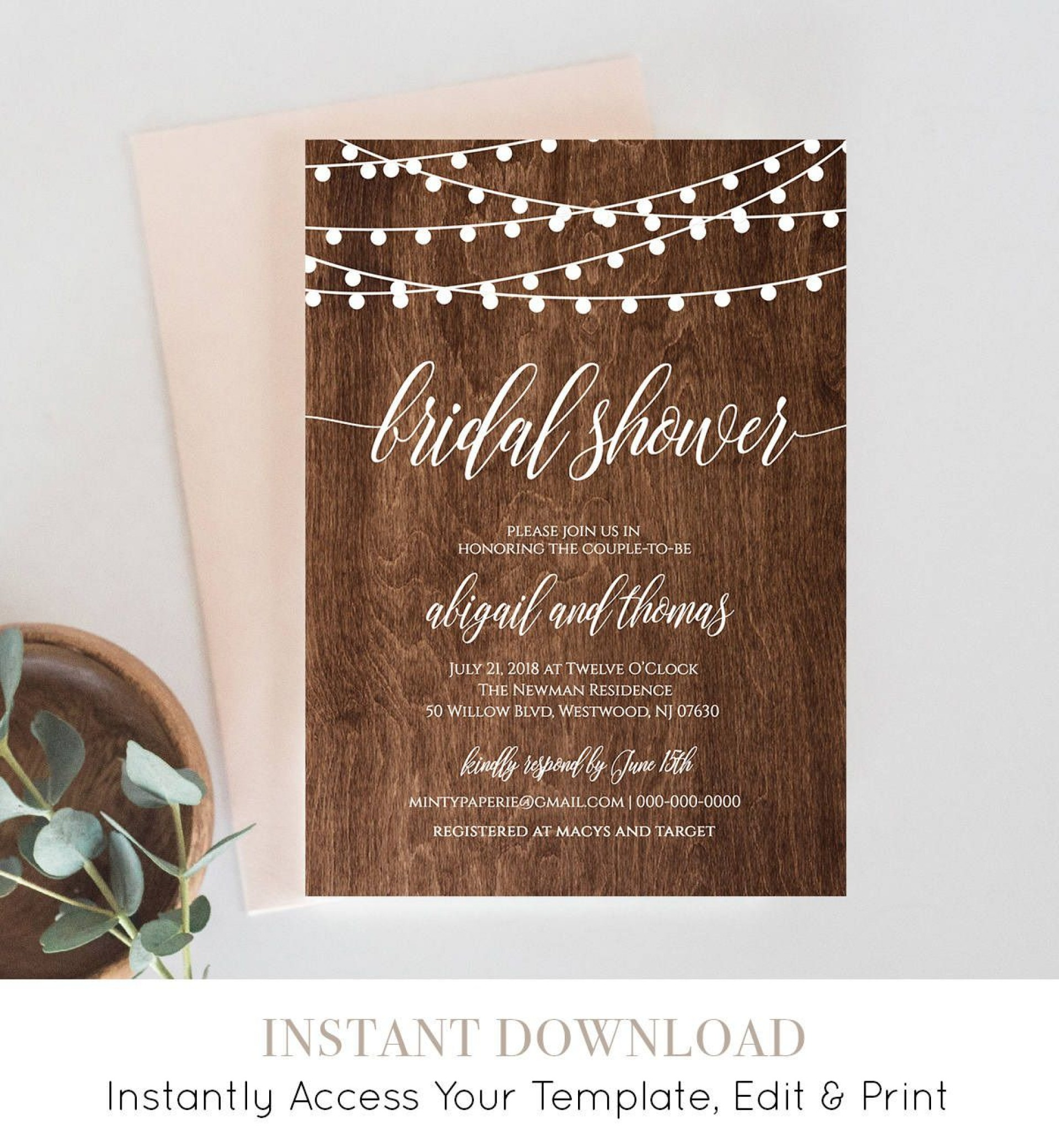 006 Surprising Free Couple Shower Invitation Template Download Sample 1920