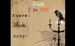 006 Surprising Free Halloween Invitation Template Inspiration  Templates Microsoft Word Wedding Printable Party