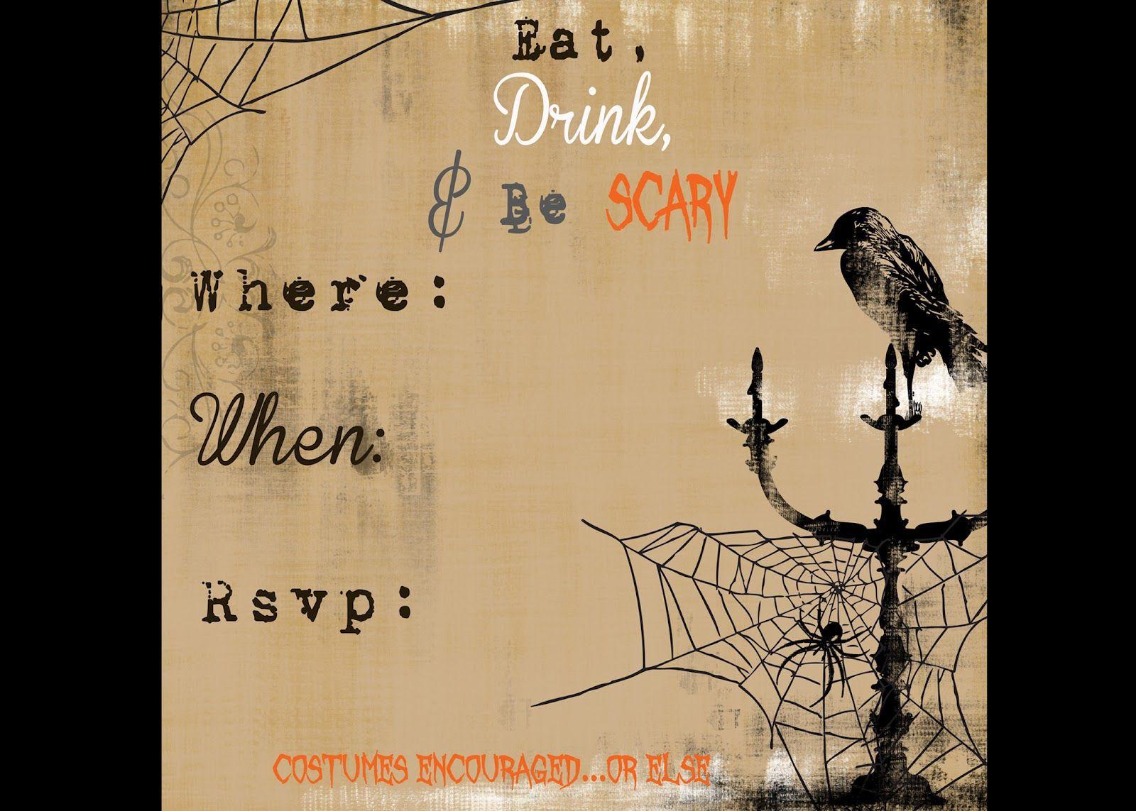 006 Surprising Free Halloween Invitation Template Inspiration  Templates Microsoft Word Wedding Printable PartyFull