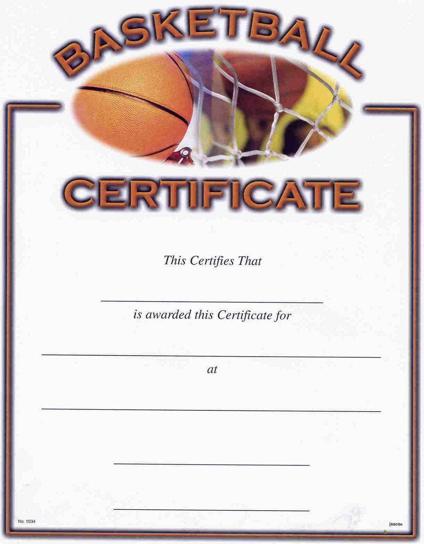 006 Surprising Free Printable Basketball Certificate Template Inspiration  TemplatesFull