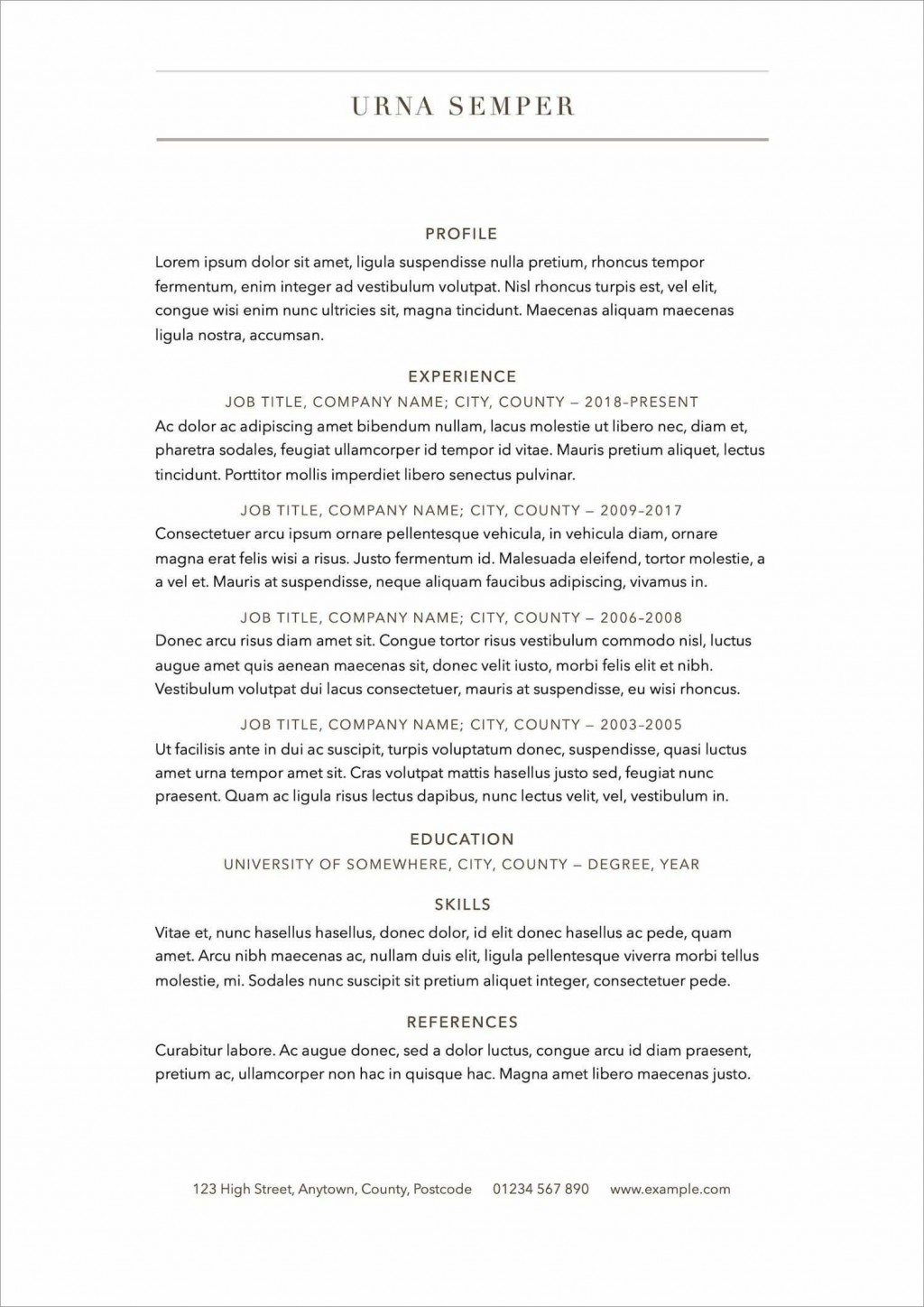 006 Surprising Free Printable Resume Template 2018 High Definition Large