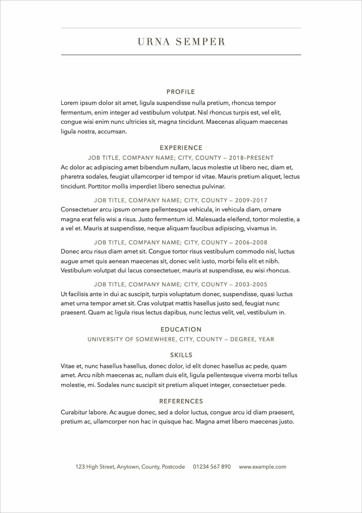 006 Surprising Free Printable Resume Template 2018 High Definition Full