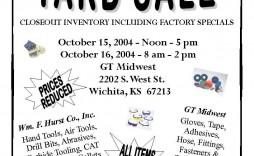 006 Surprising Garage Sale Flyer Template Free Idea  Community Neighborhood Yard