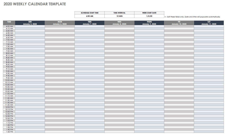 006 Surprising Google Doc Calendar Template 2020 Highest Clarity  Drive Sheet WeeklyFull