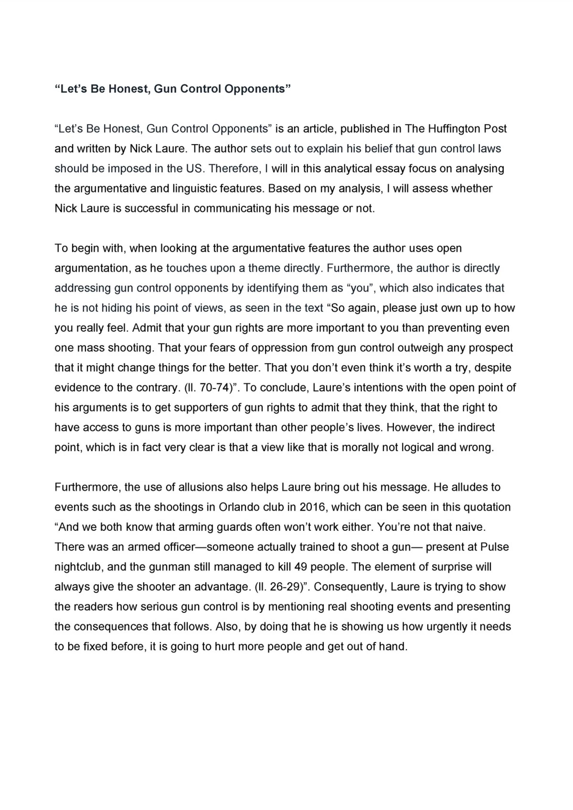 006 Surprising Gun Control Essay Idea  Anti Thesi Example Argumentative Title1920