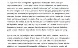 006 Surprising Gun Control Essay Idea  Anti Thesi Example Argumentative Title