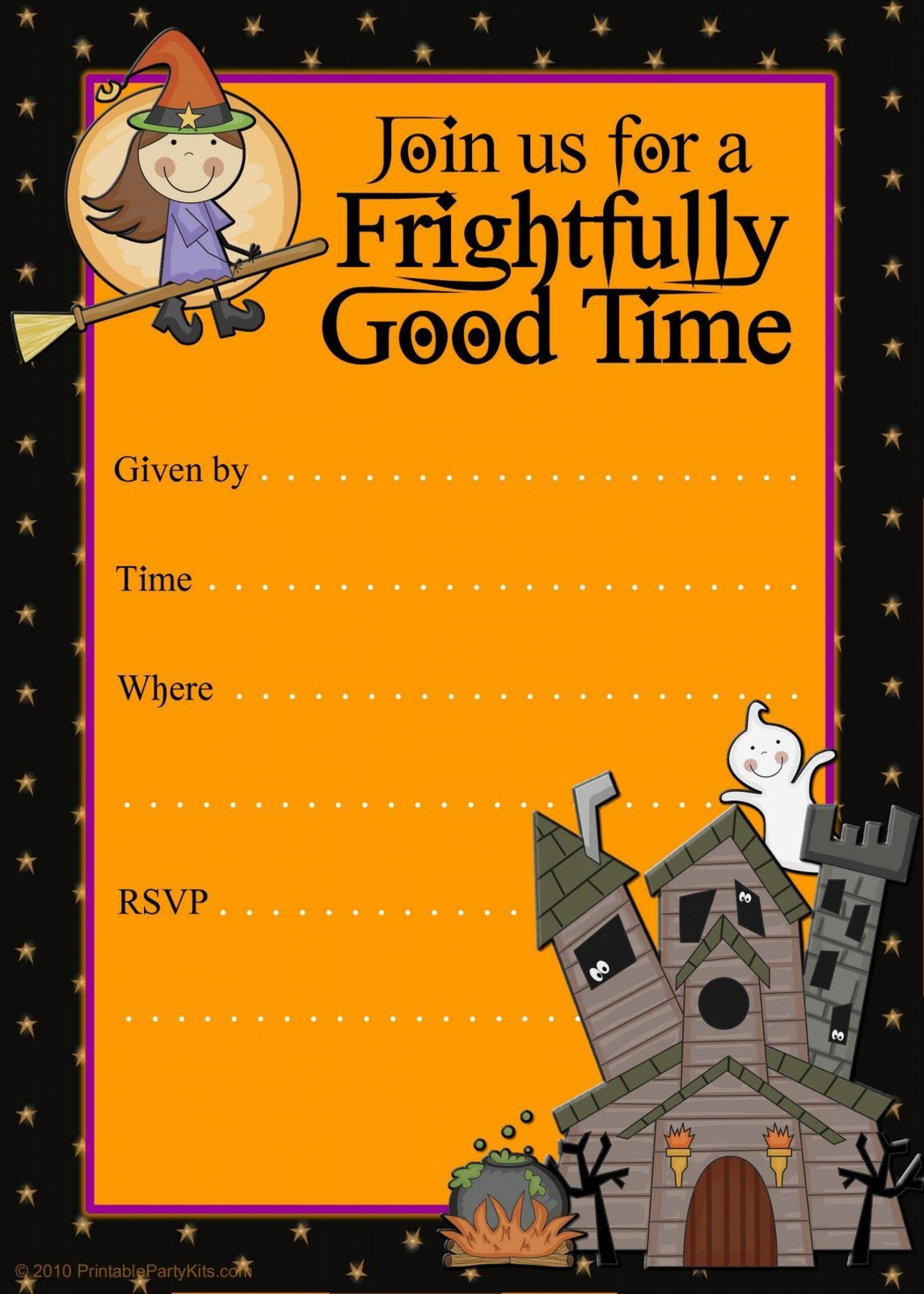 006 Surprising Halloween Party Invite Template High Resolution  Spooky Invitation Free Printable Birthday Download1920