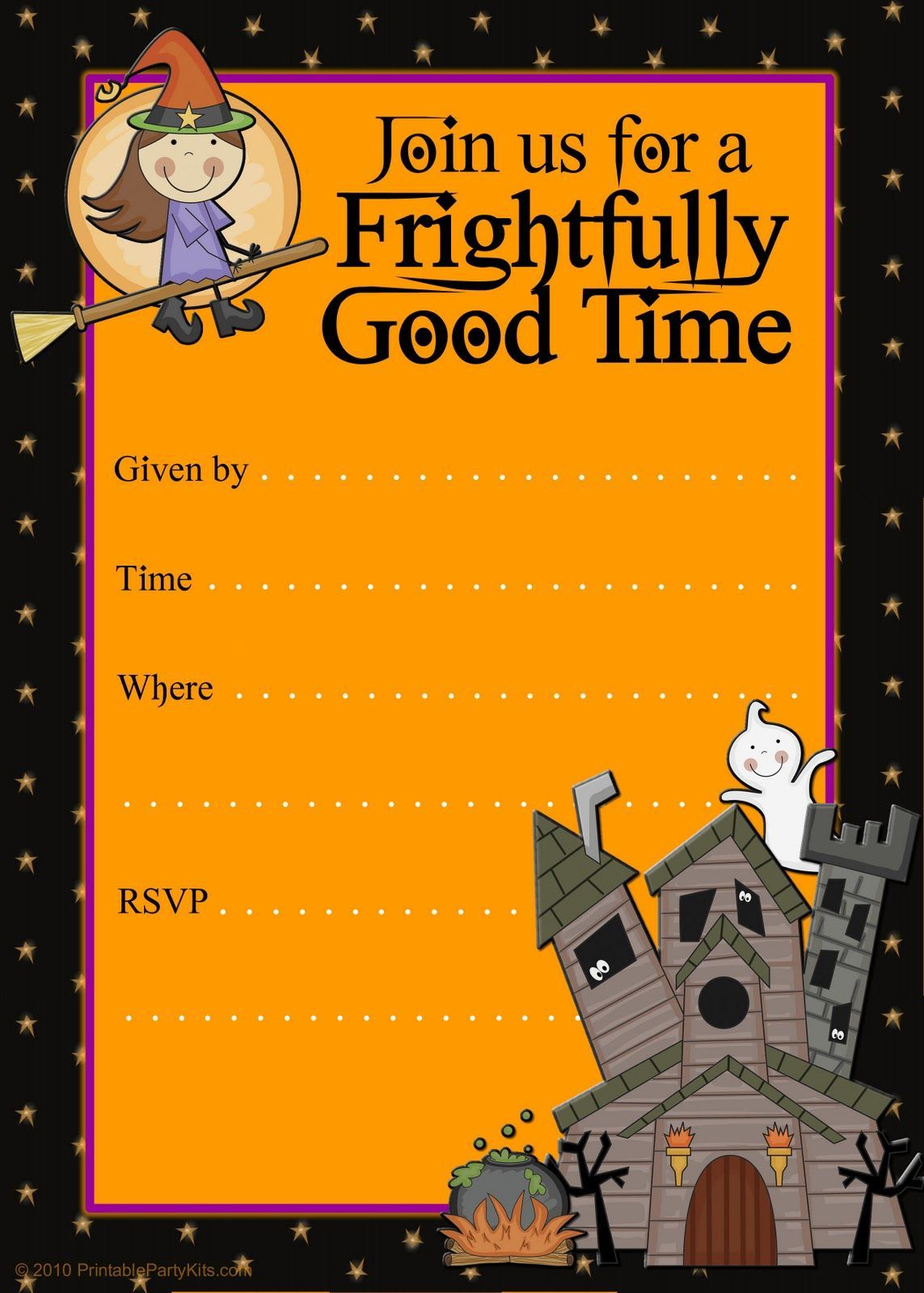 006 Surprising Halloween Party Invite Template High Resolution  Spooky Invitation Free Printable Birthday DownloadFull