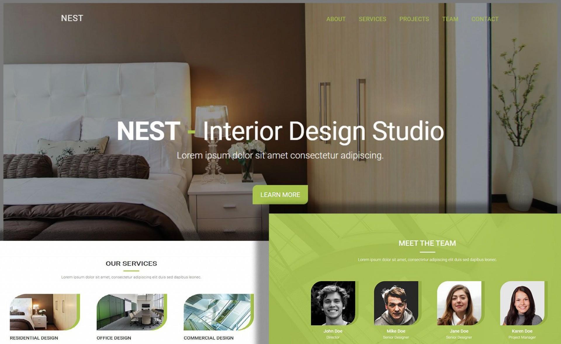 006 Surprising Interior Design Html Template Free Download Image 1920