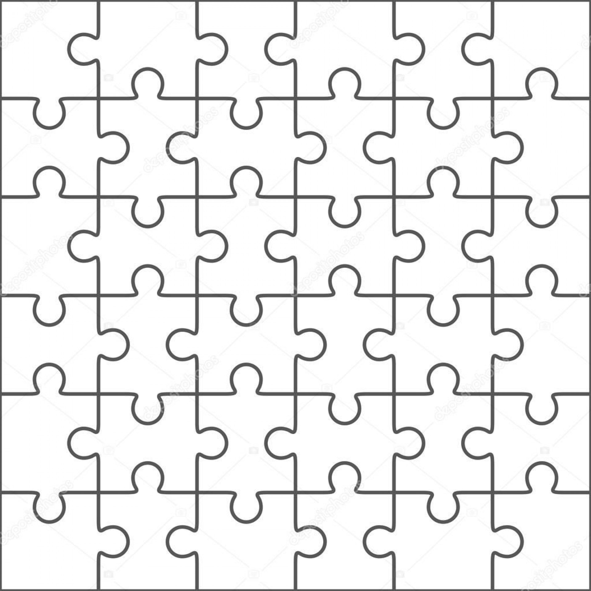 006 Surprising Jig Saw Puzzle Template Highest Clarity  Printable Blank Jigsaw Vector Free Png1920