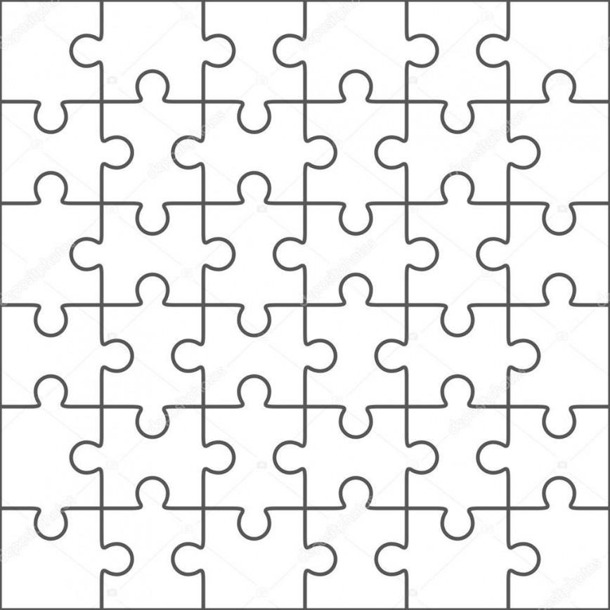 006 Surprising Jig Saw Puzzle Template Highest Clarity  Printable Blank Jigsaw Free Pattern Vector
