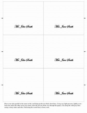 006 Surprising Place Card Template Word High Resolution  Free Name Folding Microsoft Table360