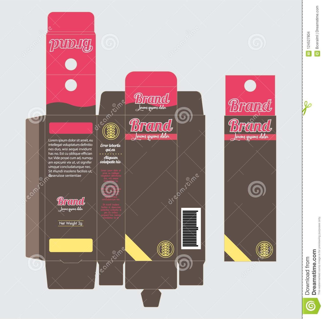 006 Surprising Product Packaging Design Template  Templates Free Download SampleFull