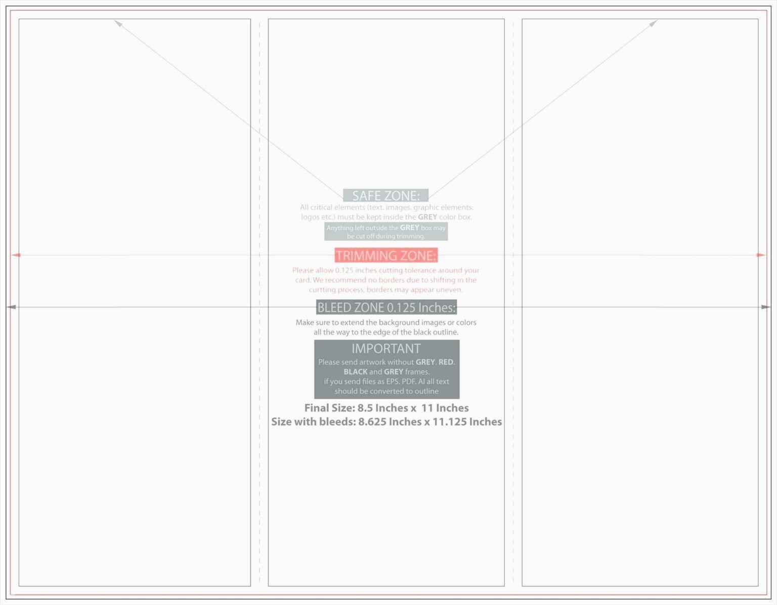 006 Surprising Quarter Fold Card Template Word Blank High Resolution Full