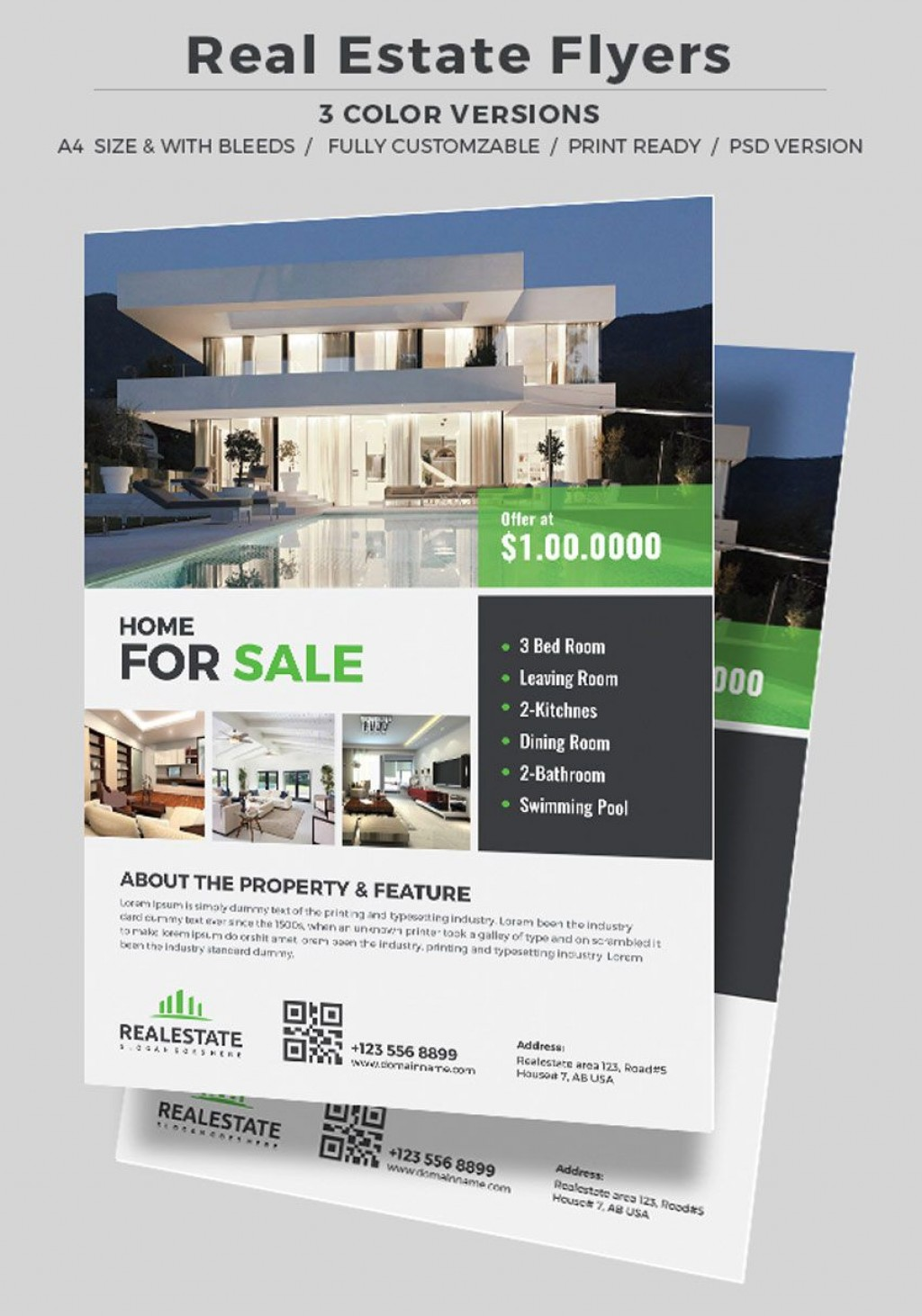 006 Surprising Real Estate Ad Template High Def  Templates Commercial Free Listing Flyer InstagramLarge
