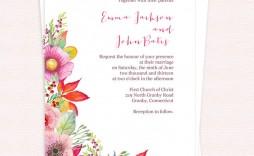 006 Surprising Sample Wedding Invitation Template Free Download Concept  Wording