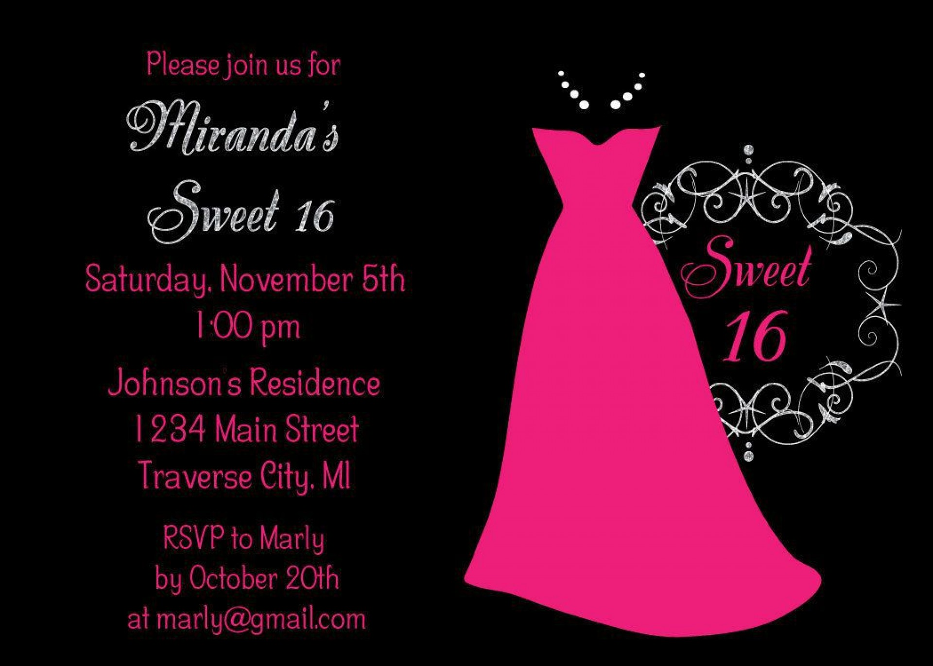 006 Surprising Sweet 16 Invite Template Image  Templates Surprise Party Invitation Birthday Free 16th1920