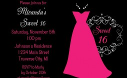 006 Surprising Sweet 16 Invite Template Image  Templates Surprise Party Invitation Birthday Free 16th