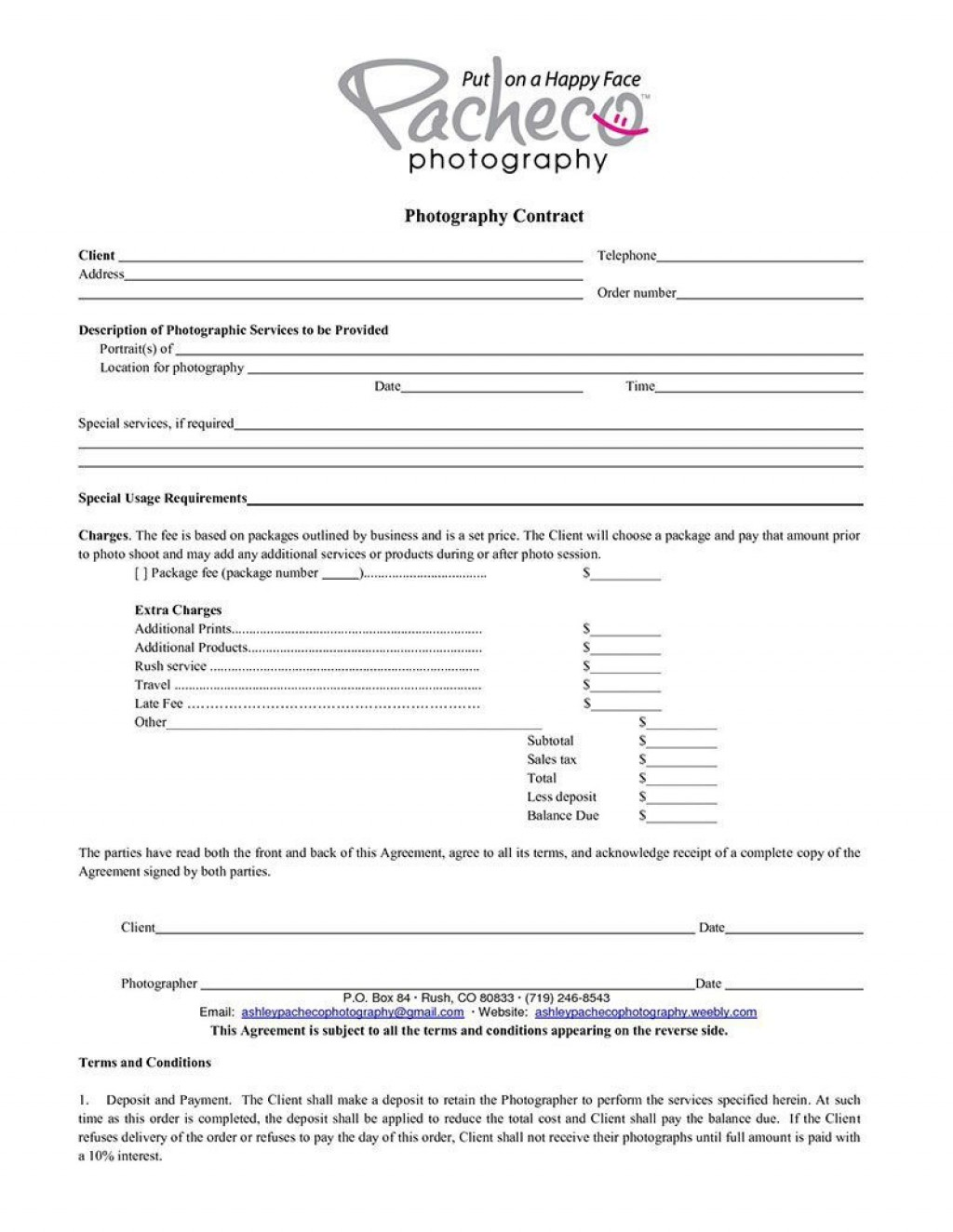 006 Surprising Wedding Photography Contract Template Canada High Definition Large