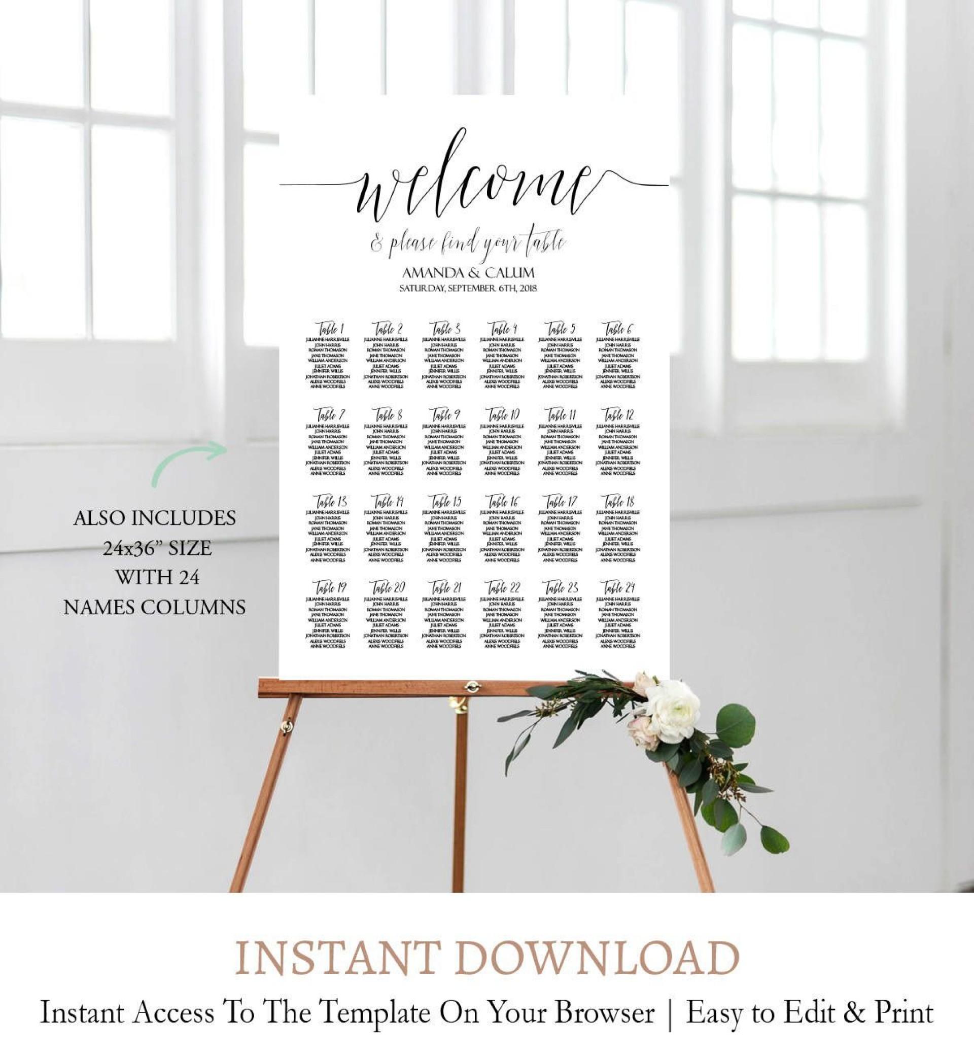 006 Surprising Wedding Seating Chart Template Image  Templates Plan Excel Word Microsoft1920