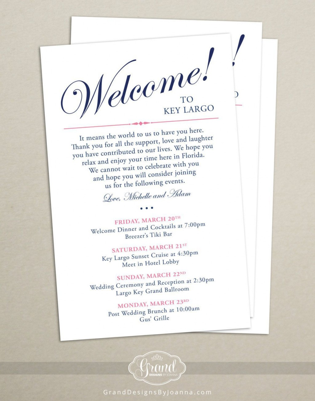 006 Surprising Wedding Welcome Bag Letter Template Free Example Large