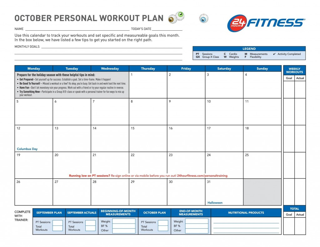006 Surprising Workout Schedule Template Excel Highest Clarity  Training Plan Download Weekly PlannerLarge