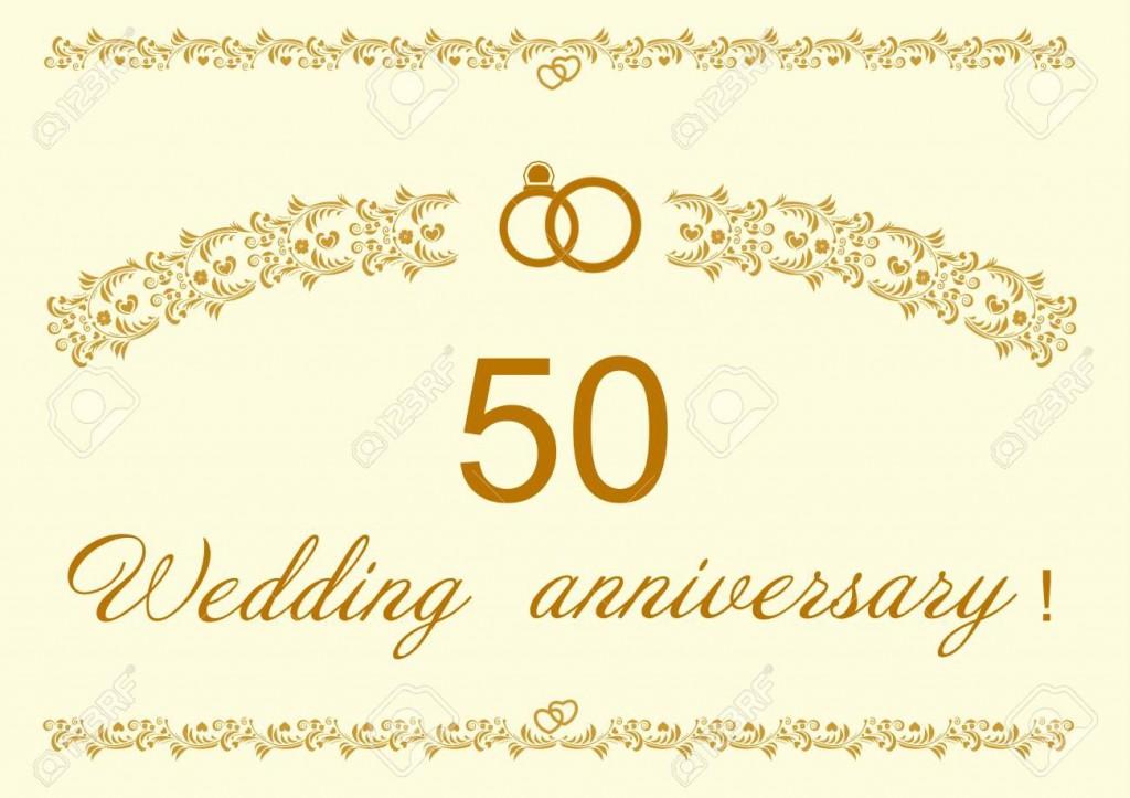 006 Top 50th Wedding Anniversary Invitation Design High Definition  Designs Wording Sample Card Template Free DownloadLarge