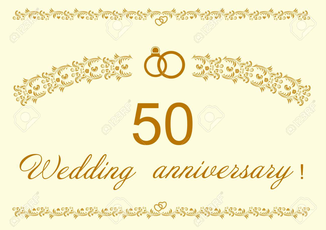 006 Top 50th Wedding Anniversary Invitation Design High Definition  Designs Wording Sample Card Template Free DownloadFull