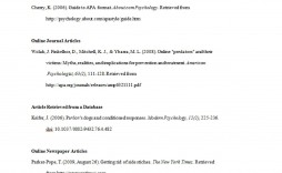 006 Top Apa Reference Page Template Example  Format In Word For Website Generator