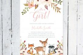 006 Top Baby Shower Invitation Girl Printable Inspiration