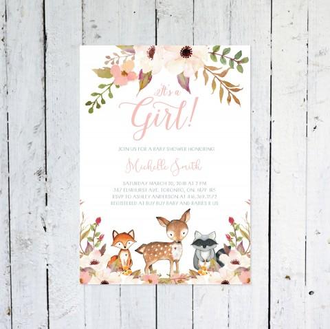 006 Top Baby Shower Invitation Girl Printable Inspiration 480