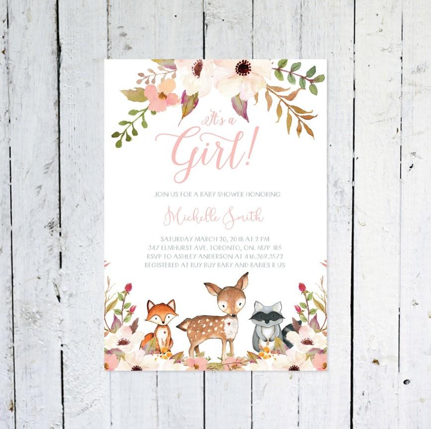 006 Top Baby Shower Invitation Girl Printable Inspiration 868