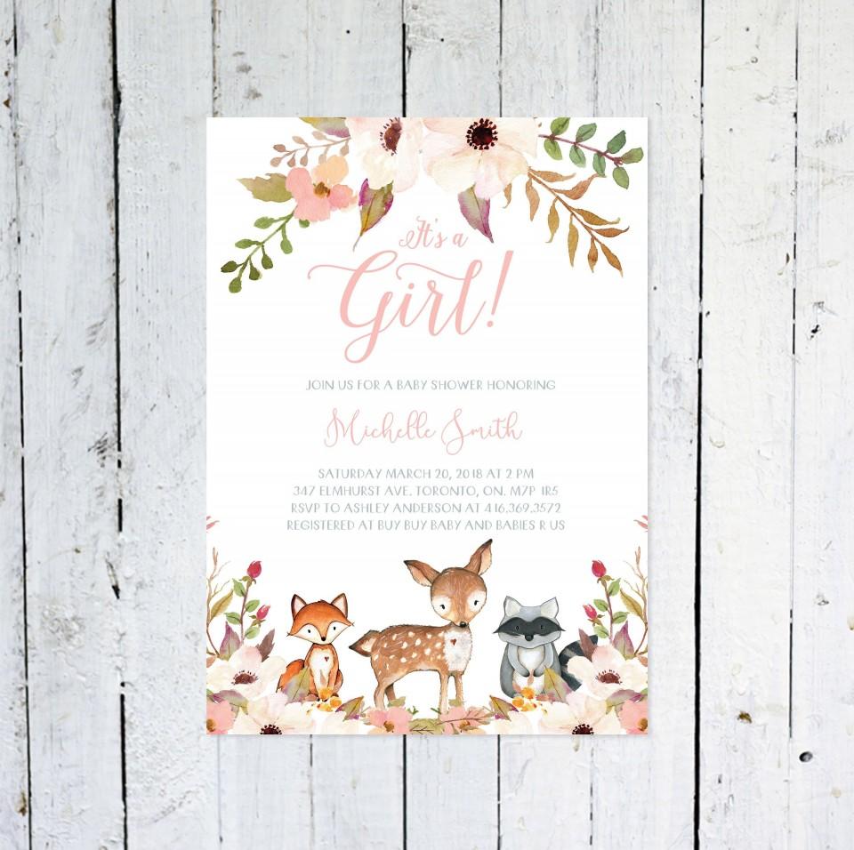 006 Top Baby Shower Invitation Girl Printable Inspiration 960