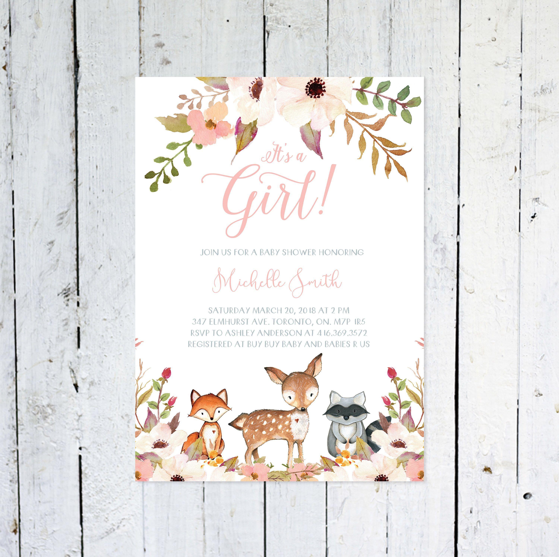 006 Top Baby Shower Invitation Girl Printable Inspiration Full