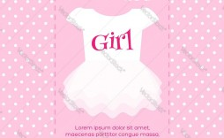 006 Top Baby Shower Template Girl Photo  Nautical Invitation Free For Word