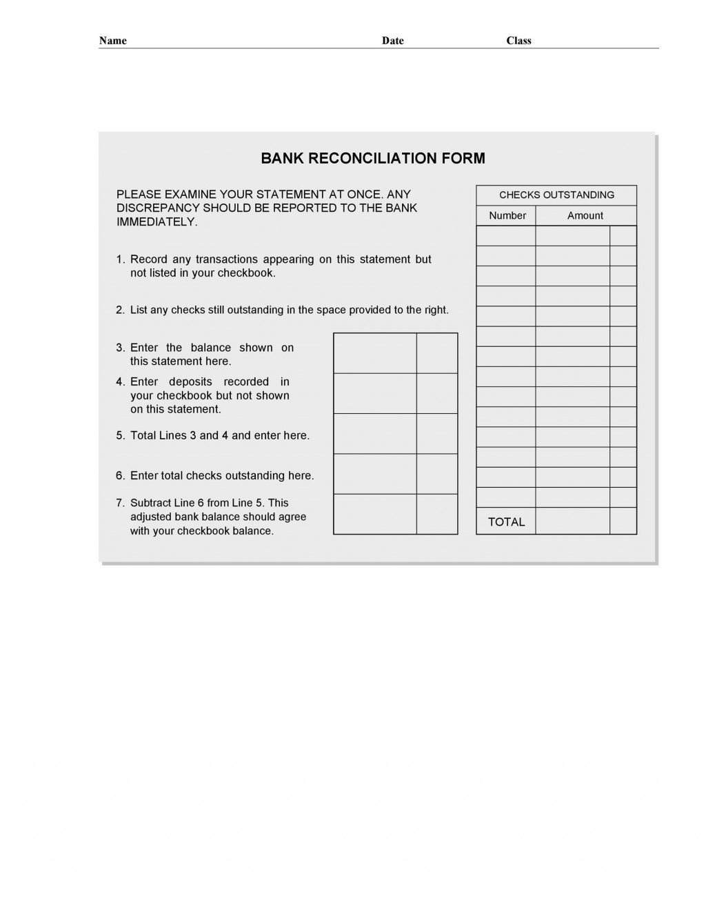 006 Top Bank Reconciliation Statement Format Excel Sheet High Definition  DownloadLarge