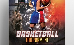 006 Top Basketball Tournament Flyer Template Photo  Word Free