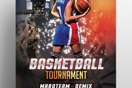 006 Top Basketball Tournament Flyer Template Photo  3 On Free