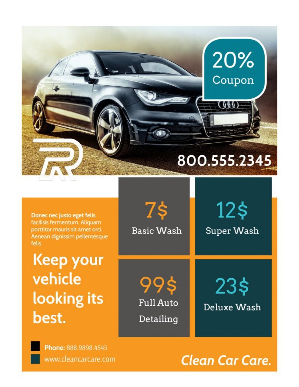 006 Top Car Wash Flyer Template High Definition  Free Fundraiser DownloadLarge