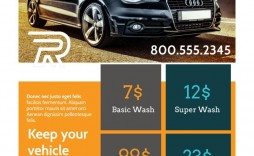 006 Top Car Wash Flyer Template High Definition  Free Fundraiser Download