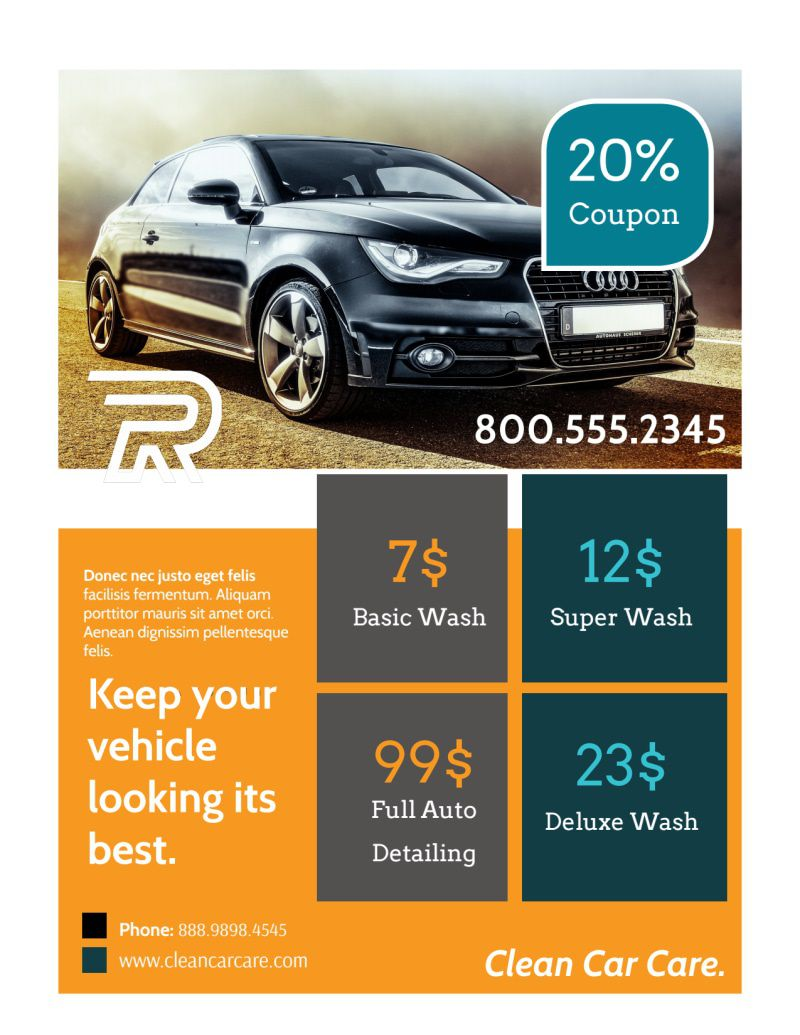 006 Top Car Wash Flyer Template High Definition  Free Fundraiser DownloadFull