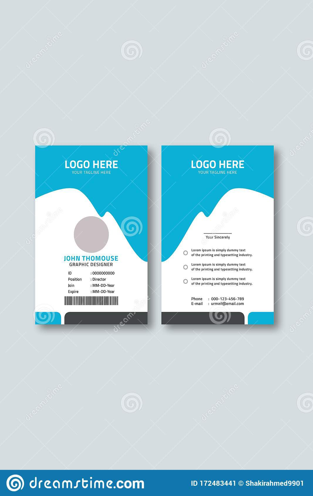 006 Top Employee Id Card Template Image  Free Download Psd WordFull