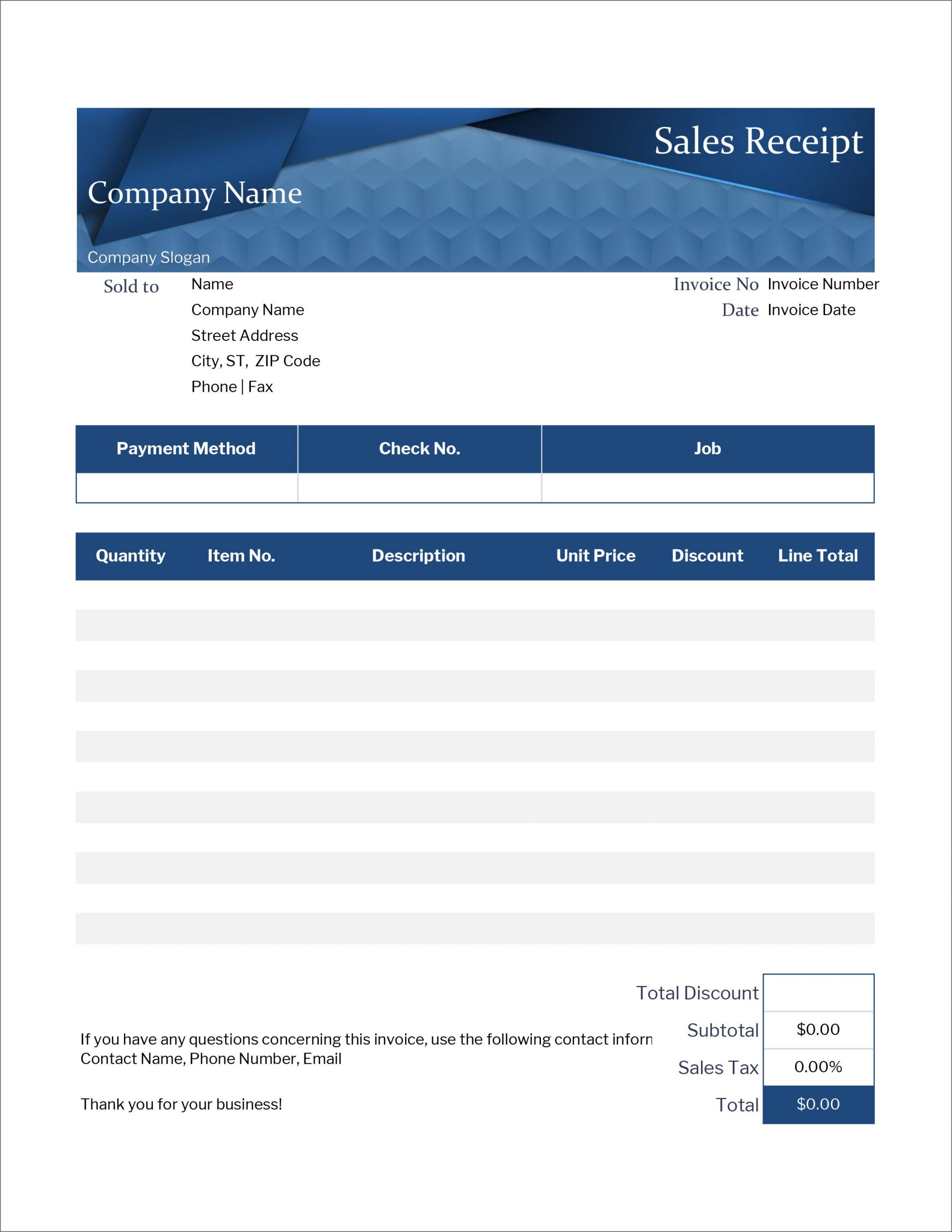 006 Top Excel Receipt Template Download Inspiration  Format Microsoft Delivery Free1920