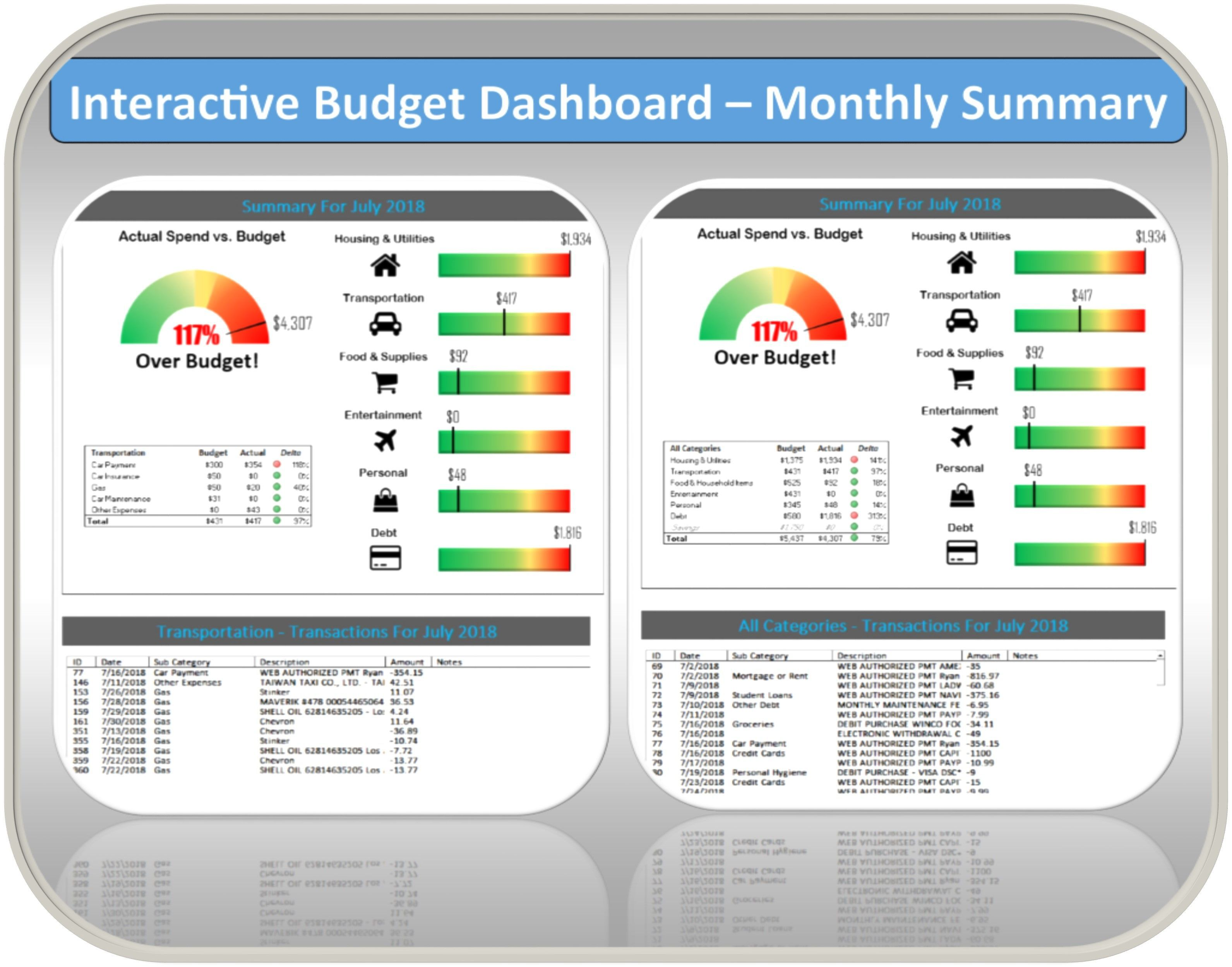 006 Top Free Microsoft Excel Personal Budget Template Design  TemplatesFull
