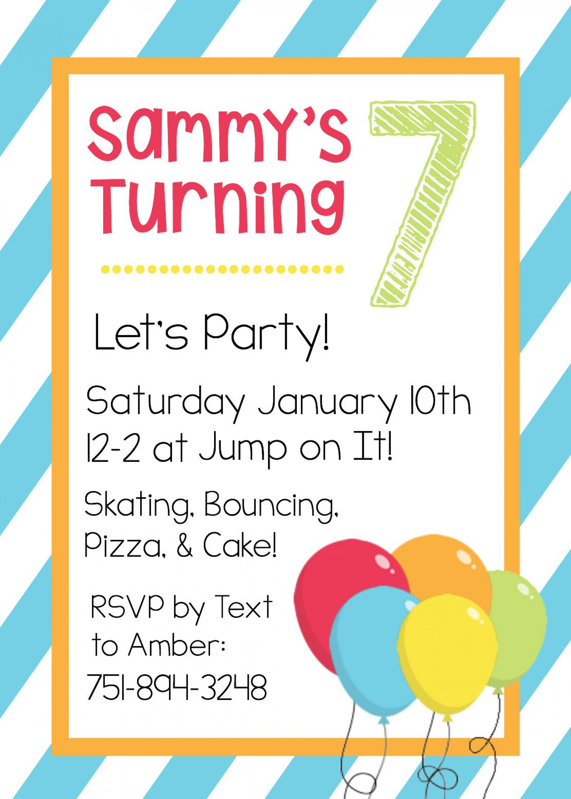 006 Top Free Online Birthday Party Invitation Template Example  Templates Maker1920